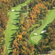 Aerial view of golf course in autumn — Stockfoto #33143045