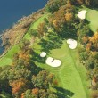 Aerial view of golf course in autumn — Zdjęcie stockowe #33660623