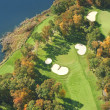 Aerial view of golf course in autumn — Stockfoto #33660623
