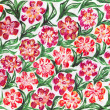 Pattern with flowers. - Stock Photo