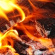 Fire closely — Stock Photo