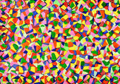 Mosaics from watercolor — Stock Photo