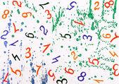 Sayılarla suluboya arka plan — Stok fotoğraf