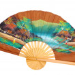Chinese decorative fan on a white — Stock Photo #13826978