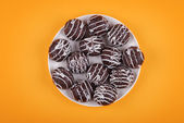 Cookies in chocolate glaze — Stock Photo