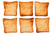 Set of toast bread on white — Stock Photo