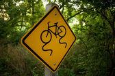 Vélo signe glissante — Photo
