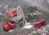 Christmas gifts and baubles — Stok fotoğraf