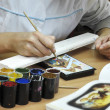 Stock Photo: Paleh' painting