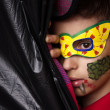 The boy in the mask with makeup — Stock Photo