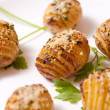 Hasselback Potatoes - Stock Photo