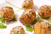 Hasselback Potatoes — Stock Photo