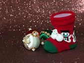 Christmas stocking — Stock Photo