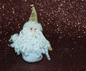Miniature toy Santa Claus — Stock Photo