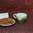 Stock Photo: Cookies and Milk for Santa
