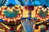 Çocukların atlıkarınca christmas Market — Stok fotoğraf