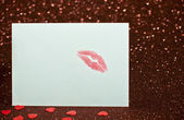 Valentine's card with a kiss — Stock Photo