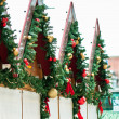 Christmas market decoration — Stock Photo