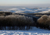 Winter in Crimean mountains — Stock Photo