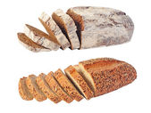 Two kinds of fresh tasty bread — Stock Photo