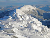 Snow-capped mountains of Carpathians — Foto Stock