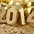 2014 year golden figures — Stockfoto