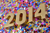 2014 rok zlatá čísla — Stock fotografie