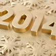 2014 year golden figures — Stock Photo