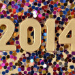 2014 year golden figures — Stock Photo #31579029