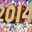 2014 year golden figures — Stock Photo #31579039