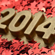 2014 year golden figures — Stock Photo #31649741