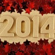 2014 year golden figures — Stock Photo #31649787