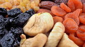 Various dried fruits close-up — Stock Photo