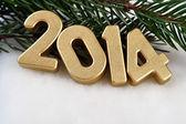 2014 year golden figures — Stock Photo