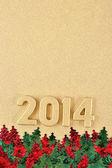 2014 roku złoty — Zdjęcie stockowe