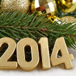 2014 year golden figures — Stock Photo #31895517