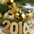 2014 year golden figures — Stock Photo #31895519