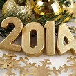 2014 year golden figures — Stock Photo #31895523