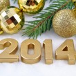 2014 year golden figures — Stock Photo #31895539