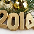 2014 year golden figures — Stock Photo #31895541