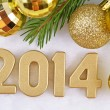 2014 year golden figures — Stock Photo #31895543