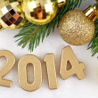 2014 year golden figures — Stock Photo #31895547
