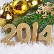 Stock Photo: 2014 year golden figures