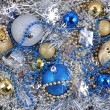 Stock Photo: Varicolored Christmas decorations