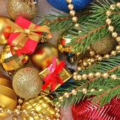 Varicolored Christmas decorations — Stock Photo