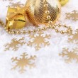 Golden Christmas decorations — Lizenzfreies Foto