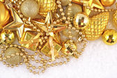 Golden Christmas decorations — Stockfoto