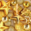 Golden Christmas decorations — Stock Photo #34090921