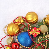 Varicolored Christmas decorations — Stockfoto