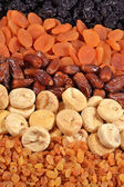 Various dried fruits background — Stok fotoğraf